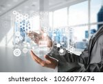 cropped image of business woman ... | Shutterstock . vector #1026077674