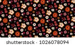 seamless floral pattern in... | Shutterstock .eps vector #1026078094