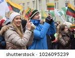 vilnius  lithuania   february... | Shutterstock . vector #1026095239