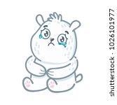 cute white polar bear character ... | Shutterstock .eps vector #1026101977