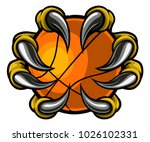 a monster or animal claw or... | Shutterstock .eps vector #1026102331
