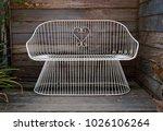 beautiful white steel chair... | Shutterstock . vector #1026106264
