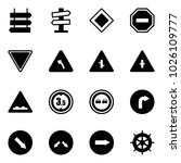 solid vector icon set   sign... | Shutterstock .eps vector #1026109777