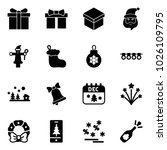 solid vector icon set   gift... | Shutterstock .eps vector #1026109795
