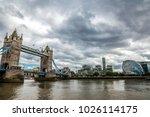 tower bridge  an iconic symbol... | Shutterstock . vector #1026114175