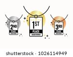 first gold second silver and... | Shutterstock .eps vector #1026114949