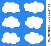 set of cloud icons in flat... | Shutterstock .eps vector #1026115465