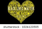 black lives matter word cloud... | Shutterstock .eps vector #1026123505