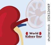 world kidney day awareness... | Shutterstock .eps vector #1026126469