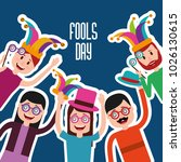 people celebration fools day  | Shutterstock .eps vector #1026130615