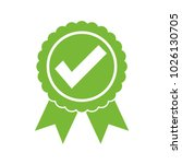 approved certified icon.... | Shutterstock .eps vector #1026130705