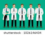 standing male doctor poses... | Shutterstock . vector #1026146434