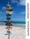 playa del carmen mexico ... | Shutterstock . vector #1026153499