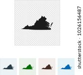 map of virginia   Shutterstock .eps vector #1026156487
