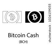 black bitcoin cash... | Shutterstock .eps vector #1026159055