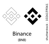 black binance cryptocurrency... | Shutterstock .eps vector #1026159061