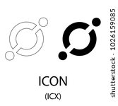 black icon cryptocurrency... | Shutterstock .eps vector #1026159085