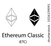 black ethereum classic... | Shutterstock .eps vector #1026159091