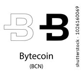 black bytecoin cryptocurrency... | Shutterstock .eps vector #1026160069