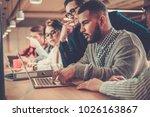 creative colleagues... | Shutterstock . vector #1026163867