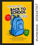 template for back to school | Shutterstock .eps vector #1026167317