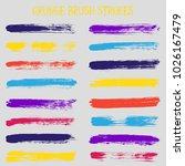 modern watercolor daubs set ... | Shutterstock .eps vector #1026167479