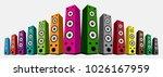 colored speaker isolated on... | Shutterstock .eps vector #1026167959