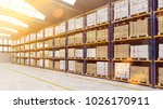 bright warehouse or storage... | Shutterstock . vector #1026170911