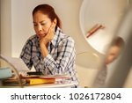 old people  tax return and home ... | Shutterstock . vector #1026172804