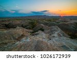 badlands national park south... | Shutterstock . vector #1026172939
