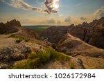badlands national park south...   Shutterstock . vector #1026172984