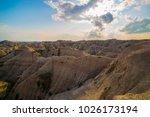badlands national park south...   Shutterstock . vector #1026173194