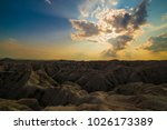 badlands national park south... | Shutterstock . vector #1026173389