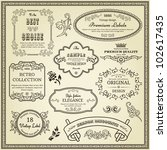 set of design elements  labels  ... | Shutterstock .eps vector #102617435