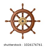Ship Wheel. 3d Illustration