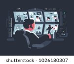 security service worker... | Shutterstock .eps vector #1026180307