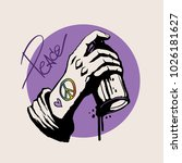 Hand Holding Graffiti Spray...