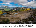 seven lakes basin 7 high divide ... | Shutterstock . vector #1026185485