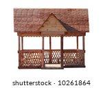 pergola isolated on white | Shutterstock . vector #10261864