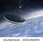 3d illustration of alien... | Shutterstock . vector #1026186454