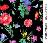 seamless pattern from bouquets... | Shutterstock . vector #1026191911