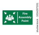 fire assembly point  vector... | Shutterstock .eps vector #1026207331