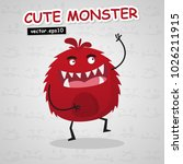 cute monster vector use for... | Shutterstock .eps vector #1026211915