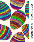 colorful easter eggs pattern.... | Shutterstock .eps vector #1026213955