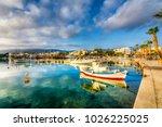 kos town harbour in kos island | Shutterstock . vector #1026225025