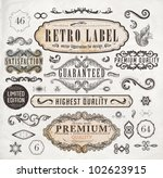 vector set  calligraphic design ... | Shutterstock .eps vector #102623915
