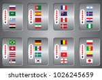vector flags of the country.... | Shutterstock .eps vector #1026245659