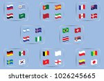 vector flags of the country.... | Shutterstock .eps vector #1026245665