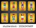 vector flags of the country.... | Shutterstock .eps vector #1026245689