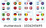 vector flags of the country.... | Shutterstock .eps vector #1026245695
